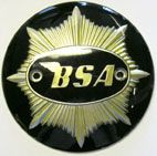 BSA Gold Star Fuel Tank Badges - Black/Gold (pair)