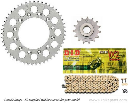 Steel Sprockets and Gold DID X Ring Chain Yamaha R6 2006 2016